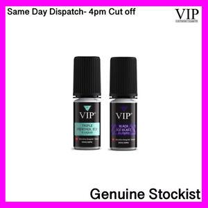 VIP 50VG:50PG Vape E-Liquid E Juice Menthol Ice & Black Ice 12mg 6mg 10ml Bottle