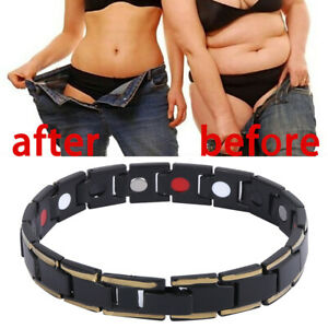 Mens Titanium Strong Magnetic Bracelet Therapy Arthritis Health Pain Relief UK