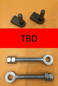 2 x Weld on Gate Hinge Pins (12mm) and Adjustable Gate Eye Bolts M12 x 100mm