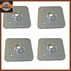 Seat Belt Harness Eye Bolt Backing Mounting Plate 7/16 Thread UNF x4