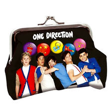 + ONE DIRECTION PORTAMONETE PORTAFOGLIO 1D Official Ladies Girls Clip-Purse Bag