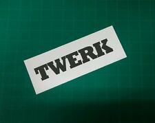 Twerk vinyl sticker jdm vinyl turbo racing window decal car window sticker