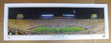 University of Michigan Football First Night Game Large panoramic 13.5 x 39