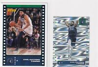 LOT (2) KARL-ANTHONY TOWNS TIMBERWOLVES - 2019-20 PANINI STICKER/CARD - Y3089