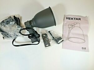 Ikea Hektar Clamp Spotlight Dark Gray Steel Lamp 502.165.40