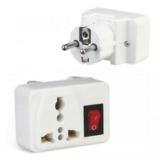 EU Plug Electric On/Off Switch International Charger Socket  Adapter  Universal