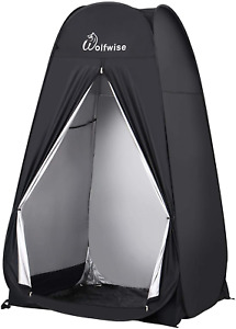 WolfWise 6.6FT Portable Pop Up Shower Privacy Tent Spacious Dressing Changing