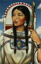 LEGENDS OF THE WEST, SACAGAWEA, PRE-STAMPED POSTCARD, OFFICIAL USPS 1993