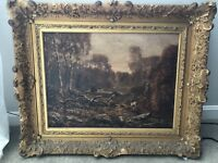 Alfred Addy Oil Signed & Framed Painting Forest Cow Pasture Landscape