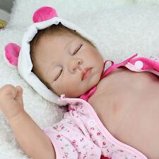 "22""Realistic Reborn Baby Dolls Newborn Boy Lifelike Soft Vinyl Body Bambole hot"