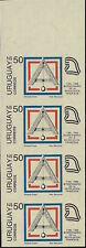 URUGUAY1989, IMPERFORATE STRIPS of 4 ** French Revolution issue Mi.1819,1822