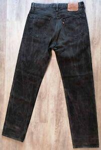 vintage Levi Strauss & CO. Noir 501 Made in U.S.A Taille W34 L34 déjà porté