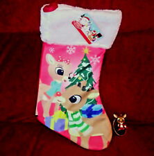 "RUDOLPH the Red Nose Reindeer New Christmas Stocking & 2.5"" Jingle Bell Ornament"