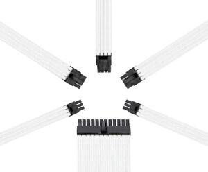 Reaper Kabel-Netzteil Erweiterungssatz-PSU Verlängerungen-weiß