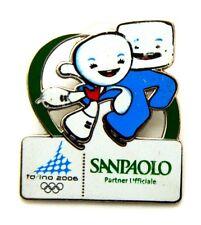 Pin Spilla Olimpiadi Torino 2006 Sponsors - Sanpaolo Mascotte Pattinaggio Di Fig