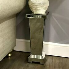 Pedestal Side Table Venetian Mirrored Furniture Glass Lamp Stand Small Telephone