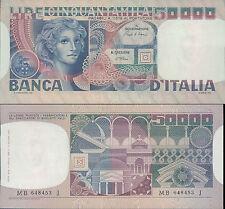 50.000 LIRE VOLTO DI DONNA PRIMO DEC.11 APRILE 1980 FIOR DI STAMPA