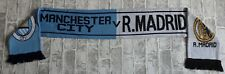 Manchester City V Real Madrid Champions League Round Of 16 Match Scarf