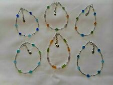 NEW SAND  SEA  SUN  Sea Glass Anklets with Sterling Silver from Austin Design