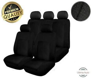Renault Clio Megane Mpv Laguna Scenic Full Set Black Fabric Car Seat Covers