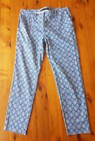 ZARA BASIC Blue Geometric Patterned Pants Size 40