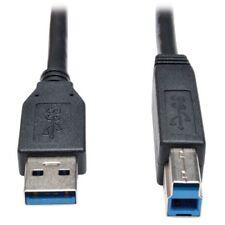 Tripp Lite Usb 3.0 Superspeed Device Cable [ab M/m] Black, 10-ft. - (u322010bk)