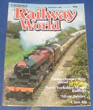 RAILWAY WORLD SEPTEMBER 1985 - THE NORTH WOOLWICH OLD STATION MUSEUM