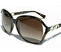 New Coach KISSING C DARK TORTOISE Brown Lens Square Women Sunglasses L948 HC8145