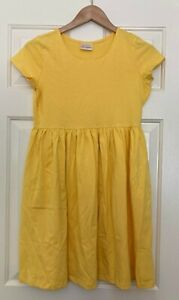 NWOT Hanna Andersson Basic Dress - Bright Yellow - Size 160