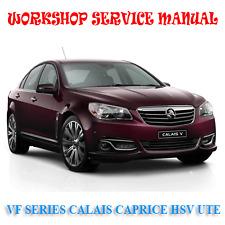 HOLDEN VF CALAIS CAPRICE HSV UTE 2013-15 WORKSHOP SERVICE MANUAL (DIGITAL e-COPY