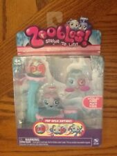 NEW2010 Zoobles Spring to Life Chillville Collection WESLEY #322 & ALVA #329 NIP