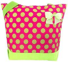 Pink with Big Lime Polka Dots Tote Bag-NWT