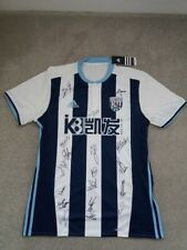 West Bromwich Albion Football Club Player Squad Signed 2017/18 Shirt L
