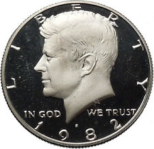 1982 President John F. Kennedy Proof Half Dollar United States Coin i45501