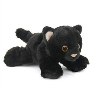 "HUG'EMS MINI BLACK CAT PLUSH SOFT TOY 7"" STUFFED ANIMAL BY WILD REPUBLIC - BNWT"