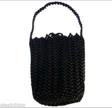 3fc3d2e080c8 NWOT Bottega Veneta Black Beaded Evening Bag w Strap Small Bag Silk Lining