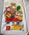 """Hand Painted Heavy Canvas Bag Kids Toys Laundry 18"""" x 29"""""""