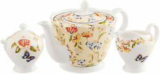 AYNSLEY COTTAGE GARDEN 3 PIECE SET (TEAPOT, CREAM & SUGAR) - NEW/BOXED