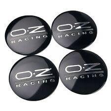 OZ Racing Nabendeckel 4x56mm Aufkleber Aluminium Schwarz-Silber  NEU