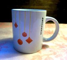 Starbucks 2012 Christmas Holiday Coffee Tea Mug Cup Decorated With Ornaments