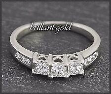 Diamant Brillant Weißgold Damen Diamantring, 585 Gold Ring mit 0,55 ct Diamanten