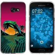 Case für Samsung Galaxy A7 (2017) Silikon-Hülle Retro Wave Delphin M1 Case