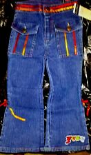NEWw/Tags~Toddlers Girls sz.4 FUBU Jeans~Satin Ribbon Trim