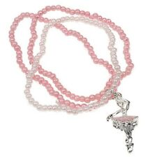 Pink Ballerina Bracelet Dance Jewellery Gifts Stretchy Ladies Fashion Charm Bead