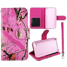 Pink Camo Mapel RT Wallet PU Leather Flip Case for Apple iphone 4 4S Phn Cover