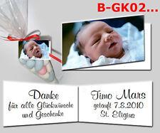 25 Gastgeschenk Anhänger Taufe, Baby, Geburt mit Foto