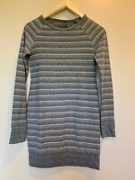 The North Face Womens Gray & White Long Sleeve Striped Pullover Tee SZ XS