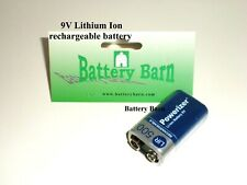 Brand New 9V Li-ion 400 mAh High Capacity Rechargeable Battery ship from USA