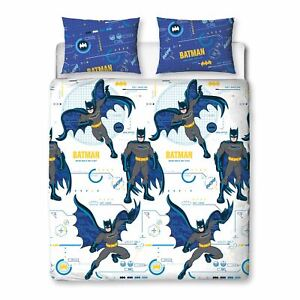 DC Comic Batman Tech Double Bedding Set Caped Crusader Two-sided Duvet Cover
