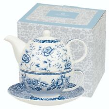 Churchill The Blue Story Tea for One Teapot Mug Coaster Fine China Gift Boxed